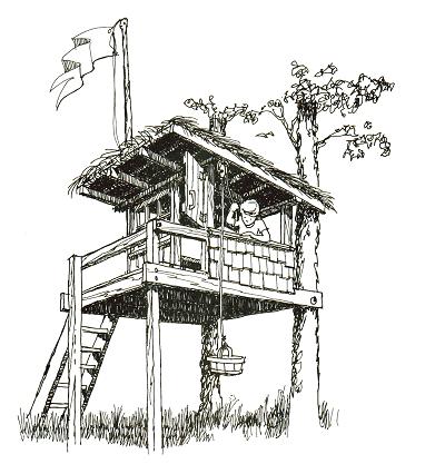 сделать домик на дереве