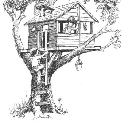 Домик на дереве может иметь вид